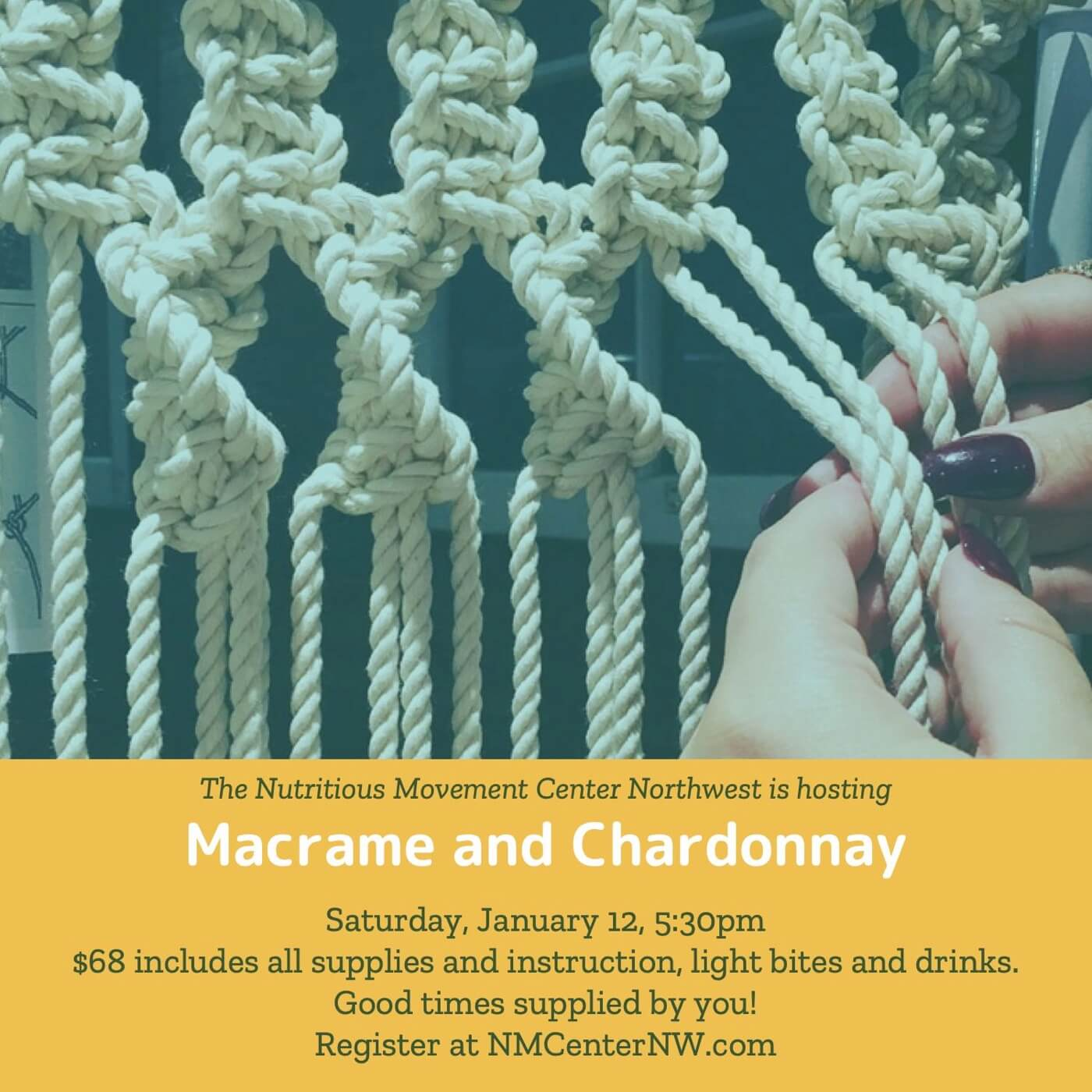 Macrame and Chardonnay